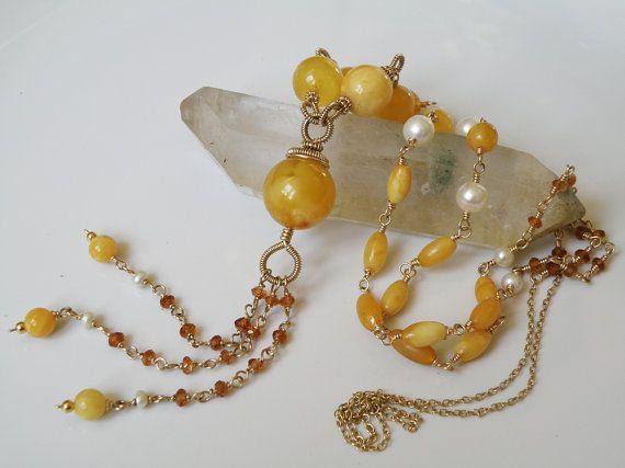 Baltic Amber gemstone necklace  gold filled by DancingLotusDesigns, kr1100.00
