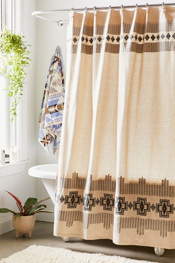 Pendleton Harding Jacquard Shower Curtain Western Bathroom Decor Urban Outfitters Curtains Bathroom Decor