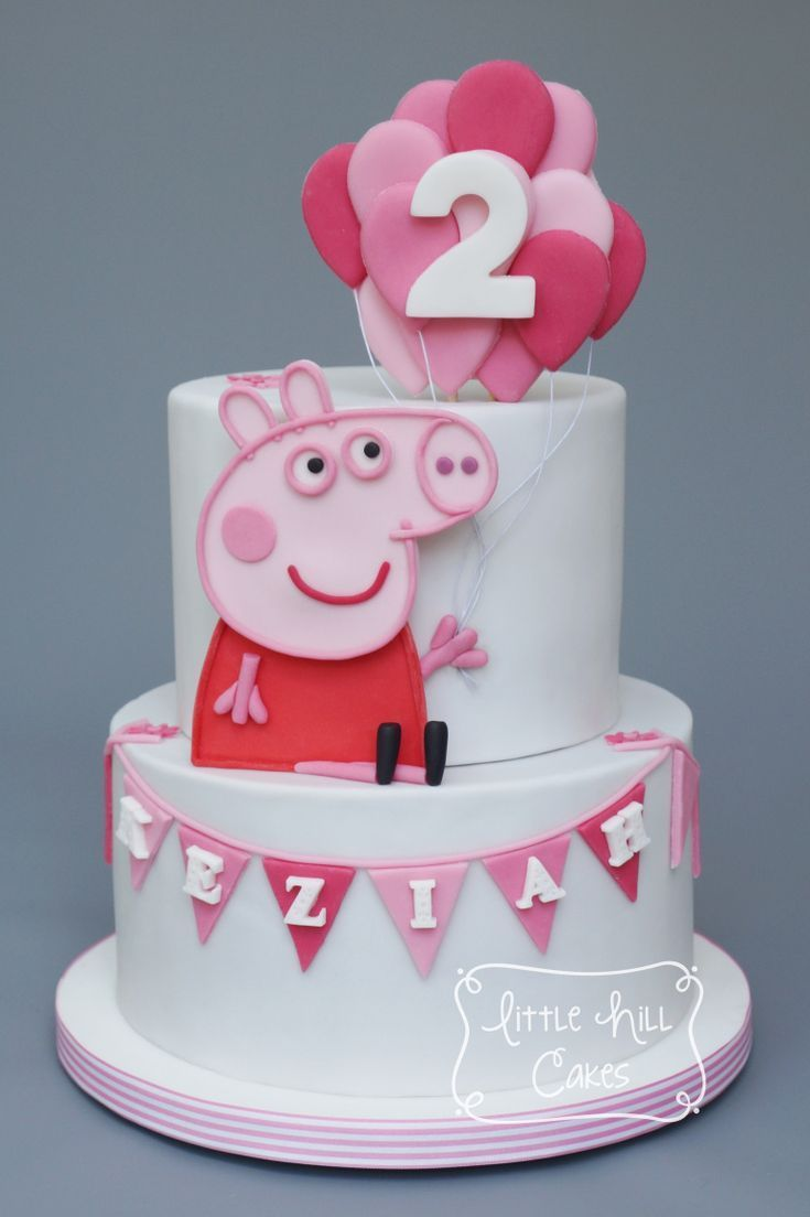 Peppa Schwein Kuchen Caking Caking Peppaschweinkuchen Peppapig Peppa Schwein Kuchen Peppa Pig Birthday Cake Pig Birthday Cakes Birthday Cake Girls
