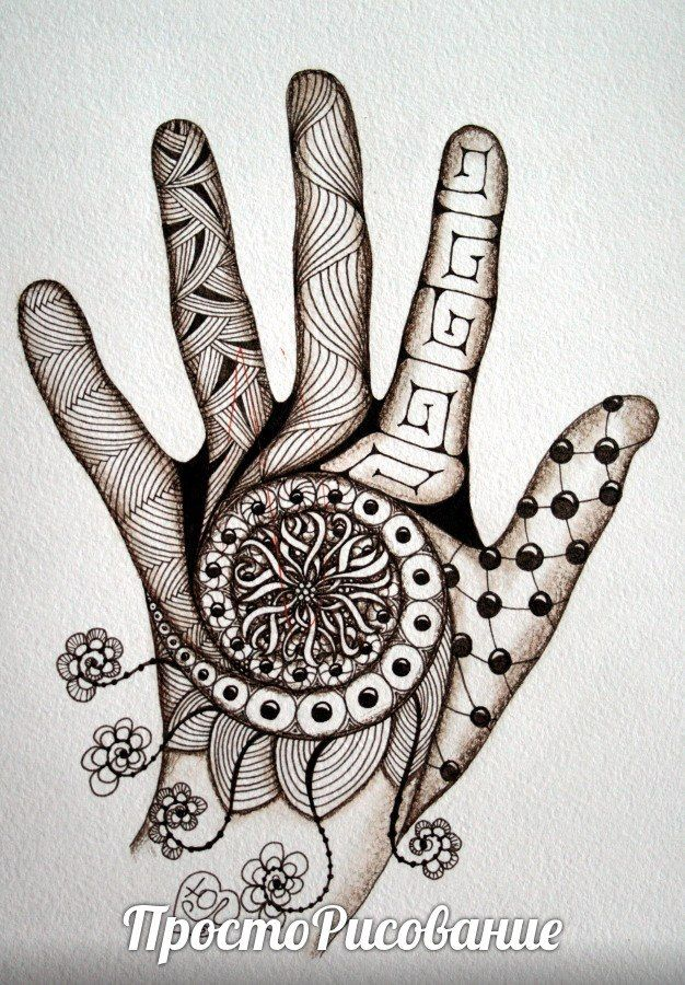 картинки для рисования ручкой на руке воскресный
