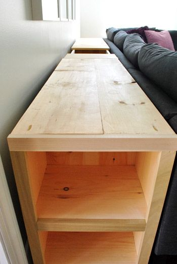 After victoriously completing the two end sections of our three-piece DIYed console table (explained here), I turned my attention to the middle portion. You may recall that this piece will be entir...