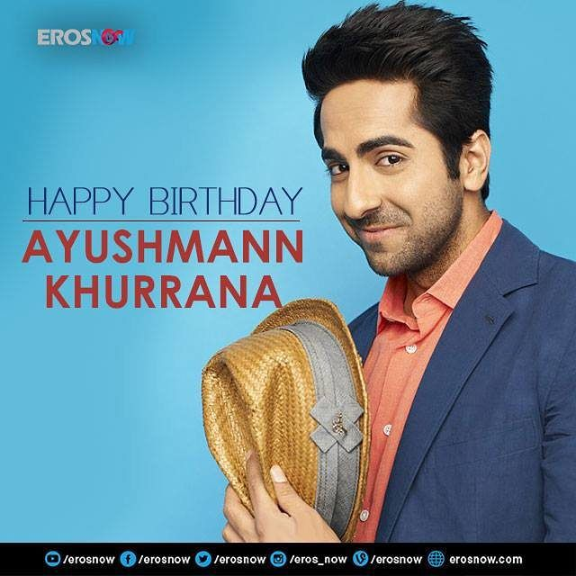 Happy Birthday Ayushmann Khurrana. We wish him all the happiness and success in the world!  #India #Bollywood #Actor #Movies #ayushmannKhurrana #Talented #Celebration...