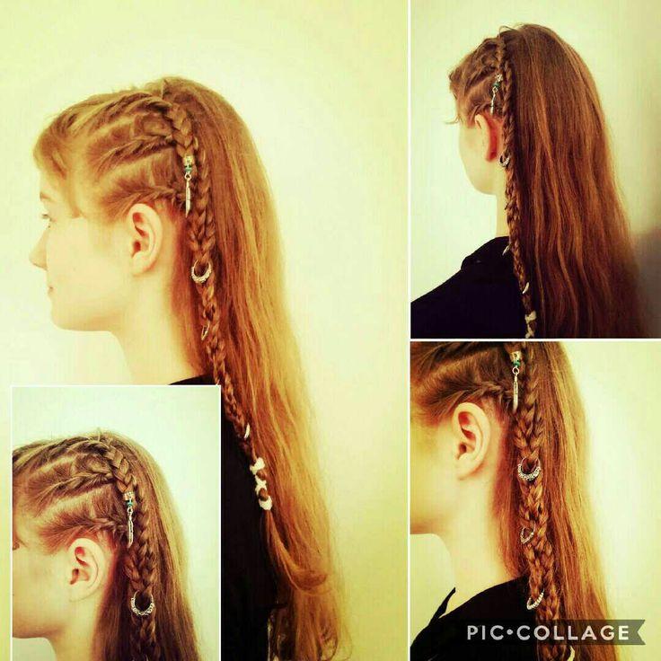 Faux-Sidecut mit Haarschmuck