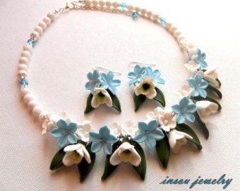Pastel Jewelry Flower Jewelry Statement by insoujewelry on Etsy