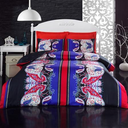 ACHICA | Yagmur King Duvet Cover Set, Red