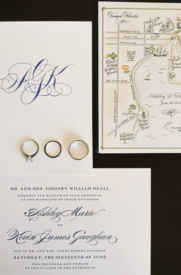wedding invitations map%0A Illustrated calligraphy Tampa wedding map  A Bit of Ink  Photography by  ginaleighphotography com
