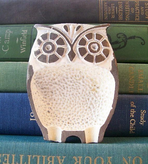 Vintage Owl Mid Century Modern Home Decor Woodland Bird