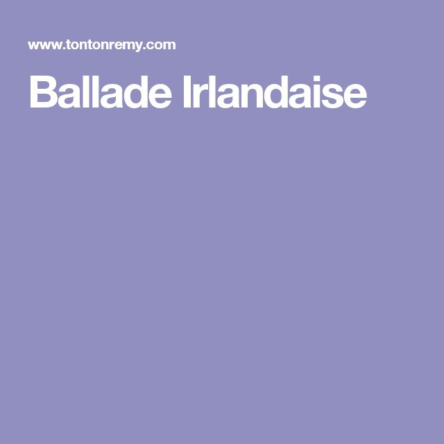 Ballade Irlandaise