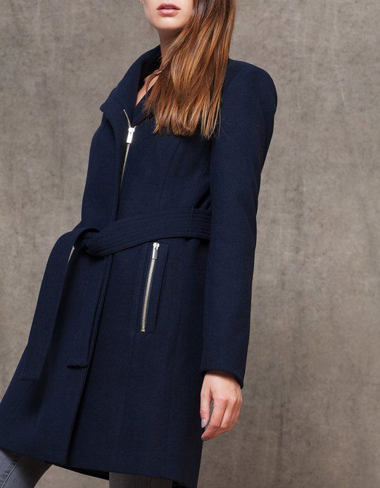 At Stradivarius you'll find 1 Woollen cloth coat with belt for woman for just 1499 CZK . Visit now to discover this and more COATS.