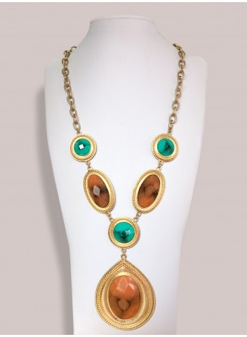 Milania Necklace in Multi, Plus size Jewelry by IGIGI