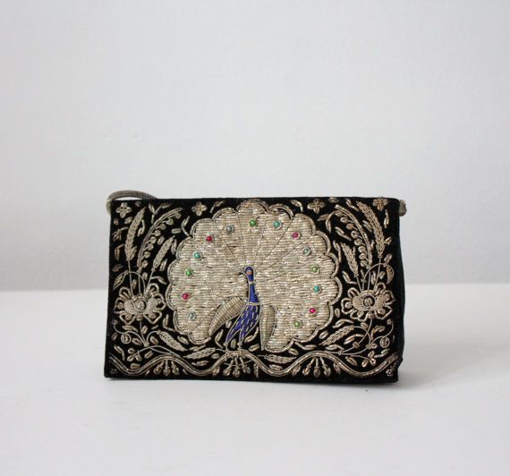 vintage 1940's beaded peacock clutch by 1919vintage on Etsy, $85.00