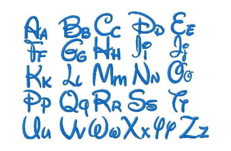 disneyesque alphabet: Disney Alphabet, Disney Fonts, Walt Disney, Fonts Sets, Embroidery Fonts ...