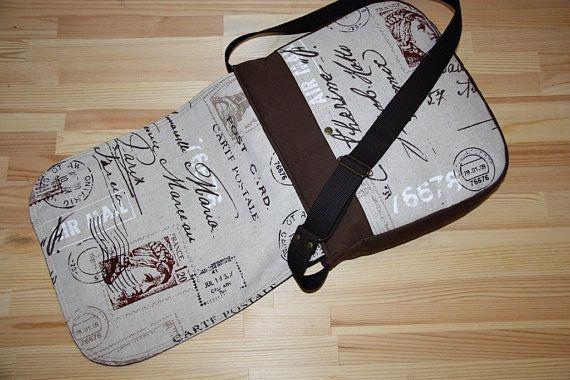 large messenger bag/stylish french bag/travel bag/ by leyyabags, $65.00