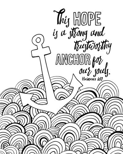 anchor for our souls hebrews 6 19 coloring canvas canvas on demand