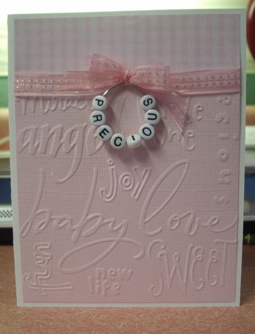 OH, SO SWEET!  Item #2350 · Cuttlebug · Heart Prints  Baby card