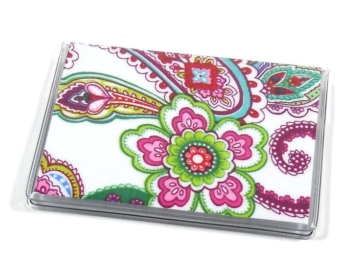 Card case mini wallet punch of paisley mini wallet