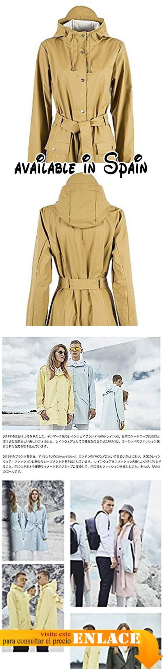 B01H6FCGU8 : Las lluvias Curve chaqueta en óxido marrón marrón XXS/XS. Resistente al agua. Ajuste estrecho. Cintura Cinturón. Peso ligero. Se puede lavar a máquina.