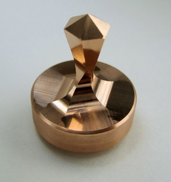 Small Copper Spinning Top
