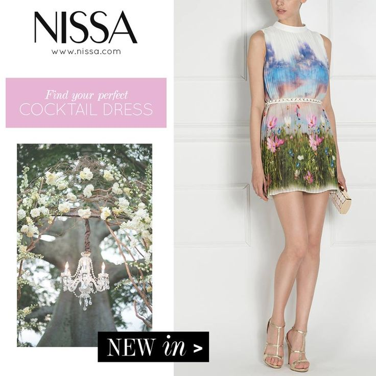 NISSA Evening 2015  NEW IN * Find your perfect Cocktail Dress! *  www.nissa.com  #nissa #cocktail #dress #dress #evening #ss2015 #pv2015 #nature #print #floral #flowers #sky #out #night #fashion #inspiration #fashionista