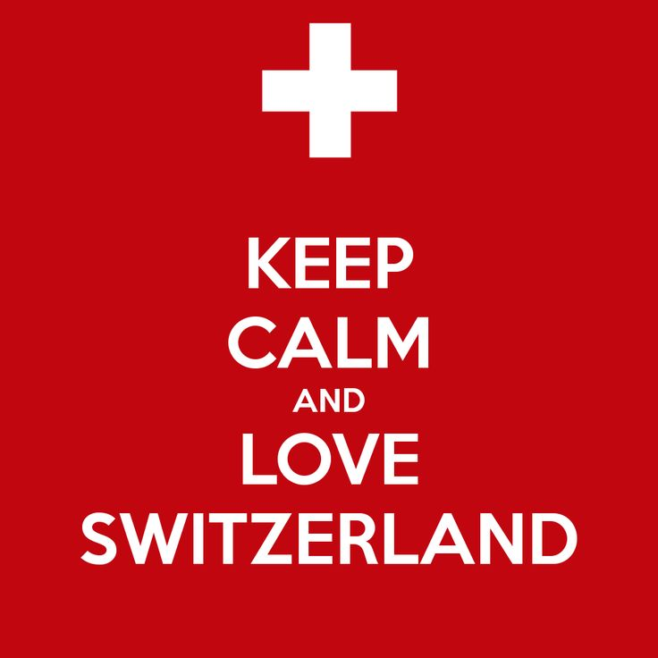 Keep Calm And Love Switzerland