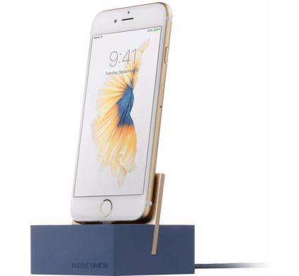 Dock Apple iPhone Blauw/Goud - 1