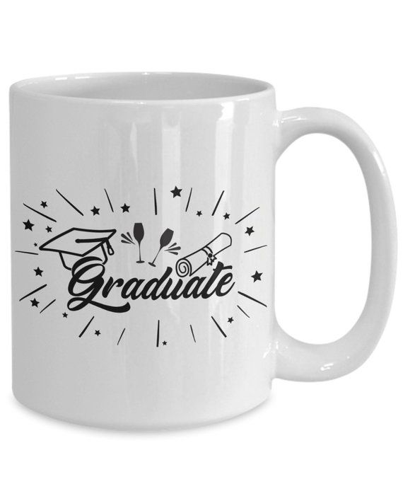 Graduate , 2919 graduation |highschool |college | graduation gift | white ceramic coffee mug