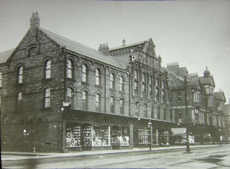 Co-operative Society, Middlesbrough Amazingly, these two buildings on Corporation Road are still standing and in use! Taken from a lantern ...Used this shop regular in early 50s ,left half groceries right side shoes,with your divi number.The store next door was Binns till the new one was finished (House of Fraser).The Borough Hotel was opp Corp