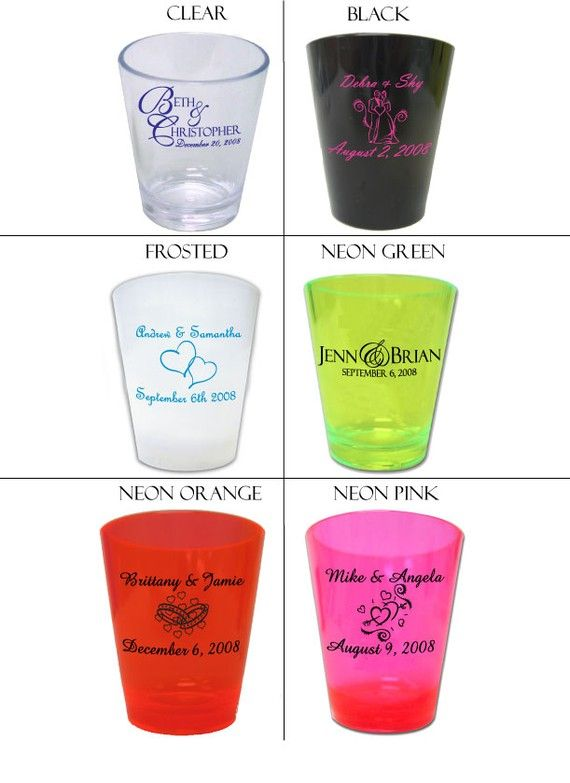 120 Personalized Custom Wedding Favor Shot Glasses by Factory21, $75.00