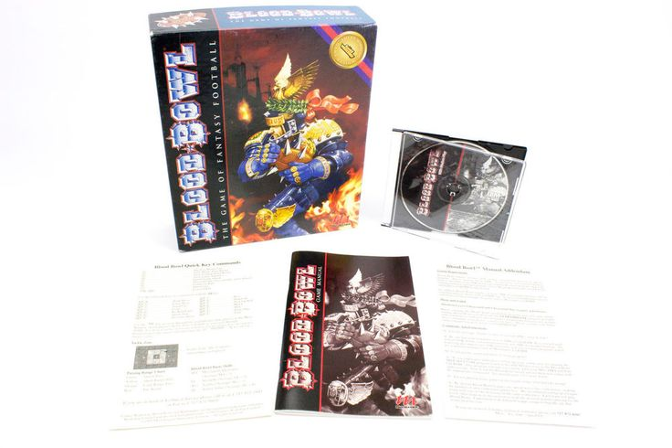 Games Workshop s Blood Bowl for MS-DOS in Big Box by Destiny, 1995