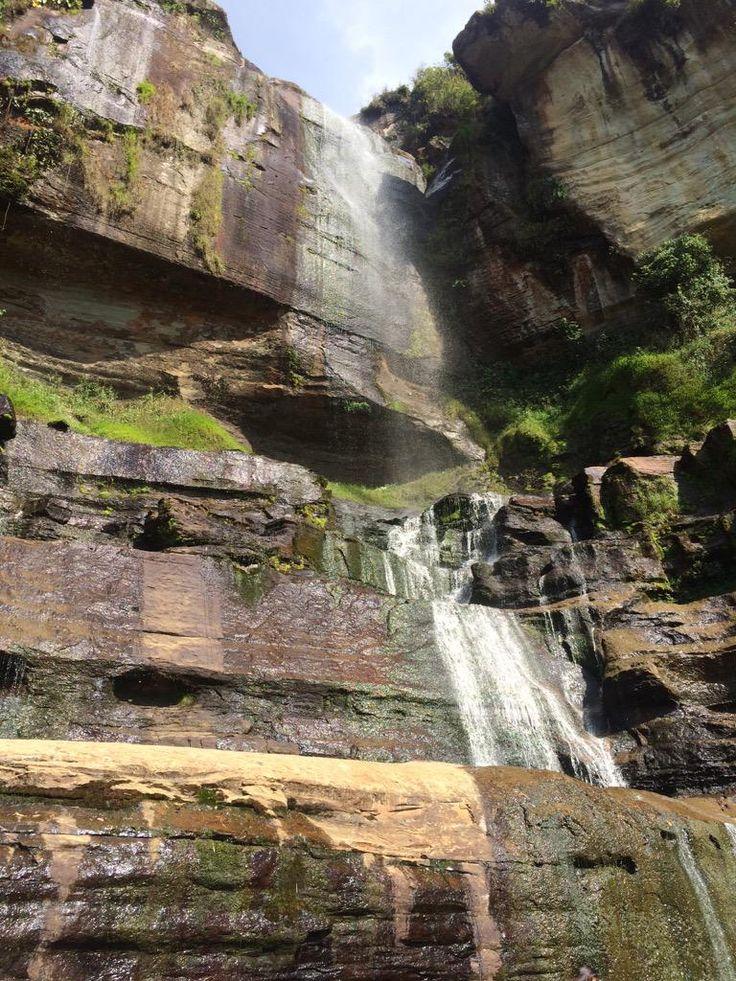 La Cascada de los Caballeros San Josè de Suaita  Foto Laura Colmenares