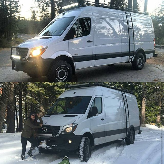 Love seeing what these Sprinter vans are doing in the snow! Thanks to @radtech_roaddog for the pics😊❄❄ #aluminess #roofrack #ladder #bumper #vanlife #adventurevan #sprintervan #sprintervanlife #sprintercampervan #sprintervanconversion #projectvanlife #vanlifers #vanlifeexplorers #mercedessprinter #mercedesbenzvans