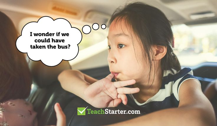 girl sits in the back of her car wondering if she could have taken the bus - teaching sustainability in the classroom