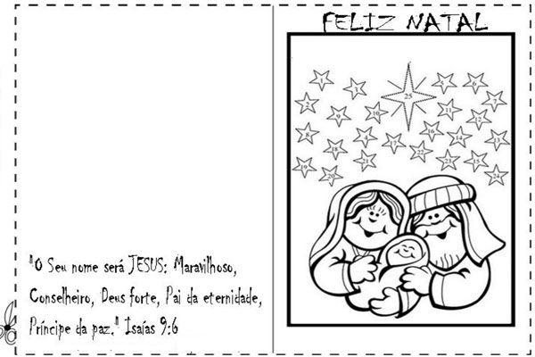 Cartao De Natal Para Imprimir E Colorir Modelos Criativos Natal