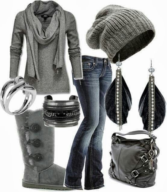 No scarf, different earrings and I'm not sure about the beanie, but I'd at least try it on - G