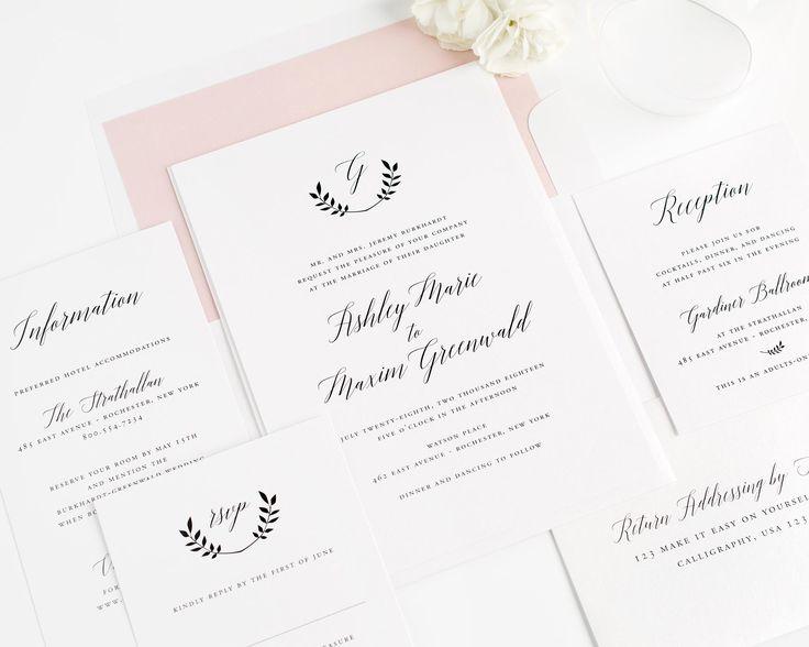 17 best ideas about monogram wedding invitations on pinterest, Wedding invitations