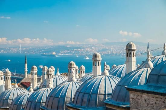 Istanbul bosphorus view over the domes