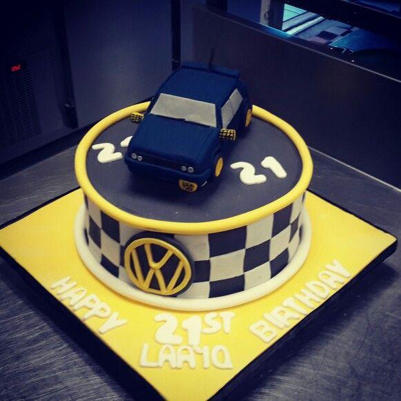 VW golf car cake for a 21st birthday