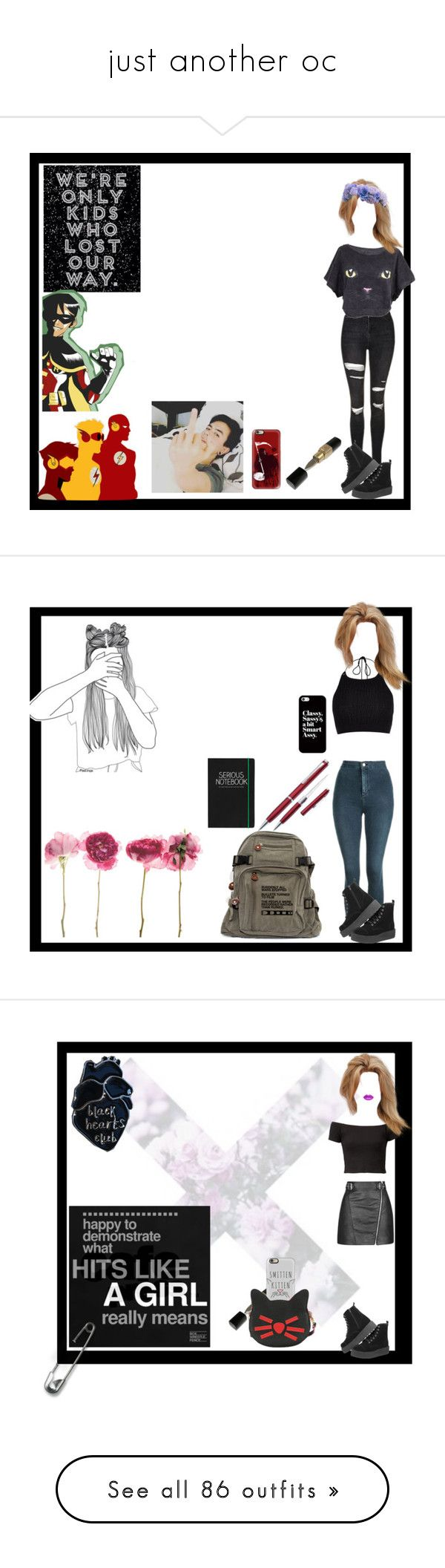 """""""just another oc"""" by thin-mint on Polyvore featuring Topshop, T.U.K., Casetify, River Island, KEEP ME, Happy Jackson, The Lip Bar, Handle, Aphero and Ultimate"""
