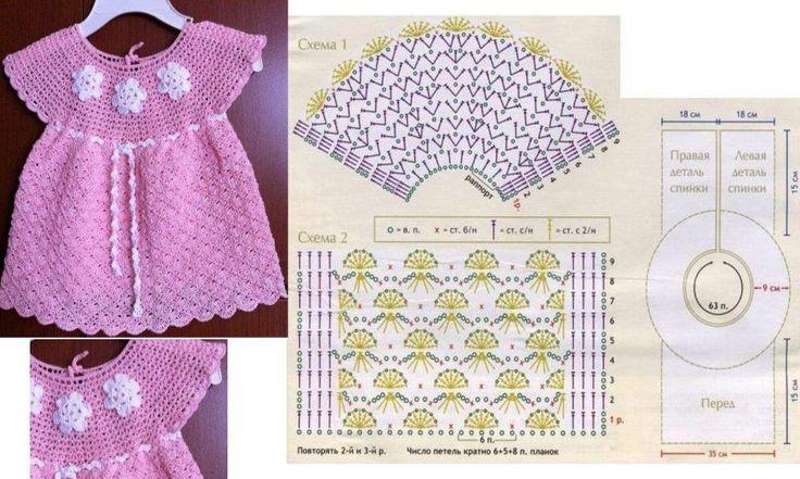 baby's dress http://bebecroche-tricot.blogspot.com.br/