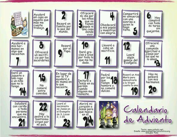 Pin De Estelita Flacaranday En Catequesis Calendario De Adviento Adviento Actividades De Adviento