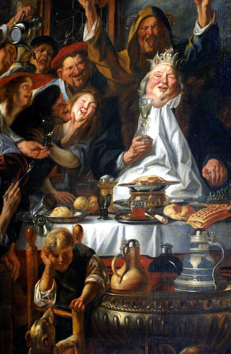 Jacob Jordaens (Jacques Jordaens), Antwerpen 1593 - 1678  Das Bohnenfest oder der König trinkt / The Bean King (ca. 1640)  Musées Royaux des Beaux Arts, Bruxelles