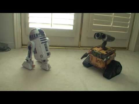 R2D2 meets WALL-E - I will find you, I will break into your house. And I am taking those robots.  Sleep with one eye open.
