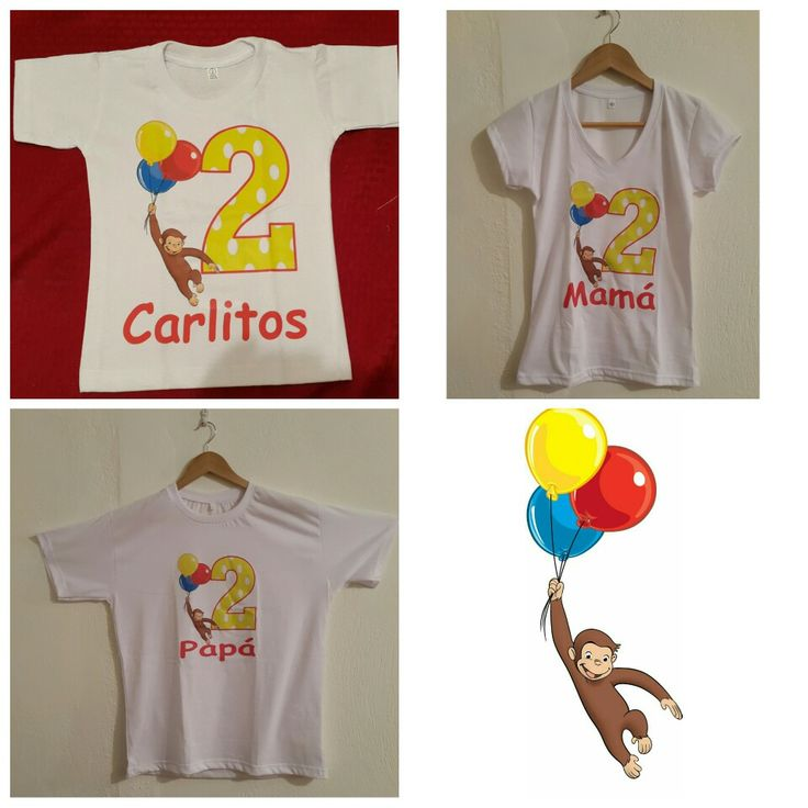Curious George Shirts, Birthday party