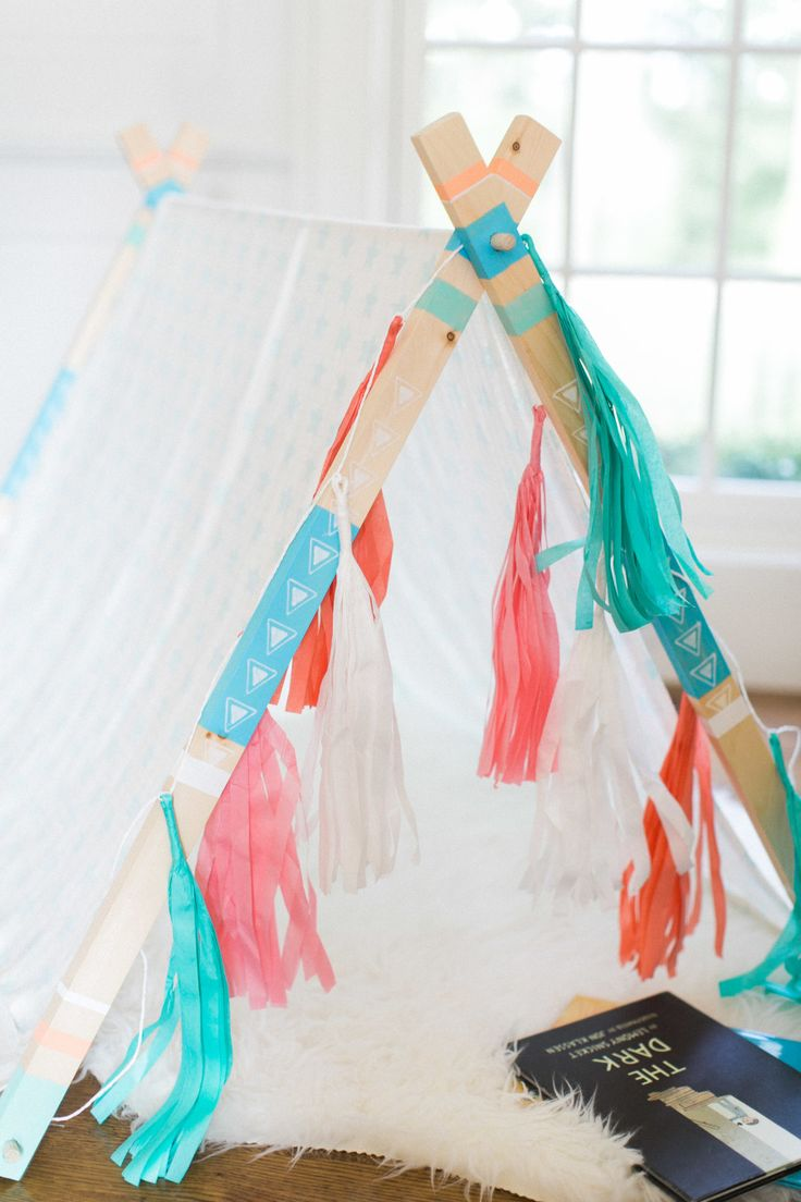 How to build an a-frame tent for your kids (no sewing involved!)