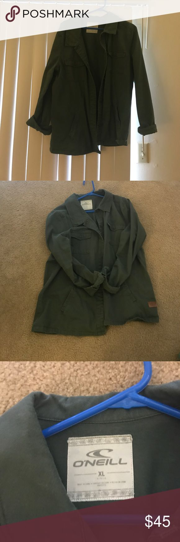 Green Utility jacket EUC O'Neill Utility jacket. I love this jacket but it's just too big. O'Neill Jackets & Coats Utility Jackets