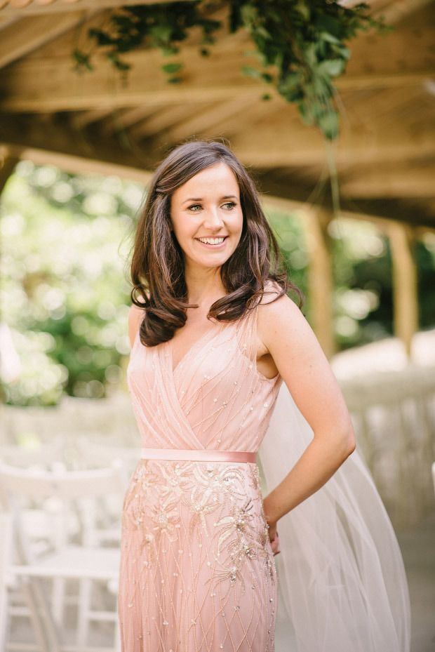 Beautiful Trudder Lodge wedding with blush wedding dress by This Modern Love | www.onefabday.com