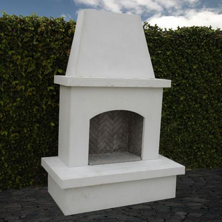 American Fyre Designs Contractor's Model Outdoor Fireplace - Unfinished | WoodlandDirect.com: Outdoor Fireplaces: Fireplace Units - Gas, American Fyre Designs