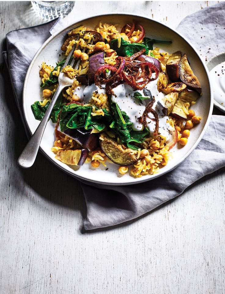 Here's looking at you, aubergine biryani...