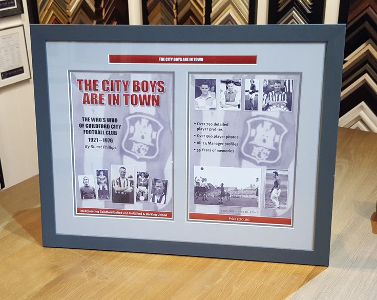 We've recently framed a presentation version of this brand new book, a complete Who's Who of Guildford City Football Club from  1921 to 1976.    Order your copy of the book by emailing guildfordcity@hotmail.co.uk or from eBay at https://www.ebay.co.uk/itm/122212401595