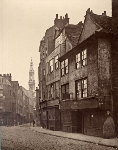 """Drury Lane, London, 1876 This is """"Man looking back"""" Looking back from the past, I like to think."""